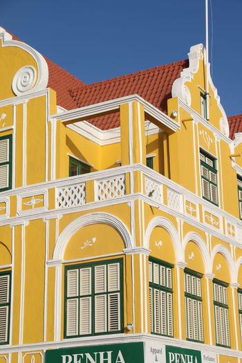 Architecture Building Exterior Built Structure Day Handelskade Historical Building No People Outdoors Penha Punda Sky Yellow