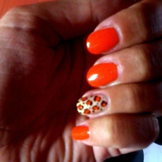 Nail art ~ Leopard nail ? Nailart  Leopard Animalier Love