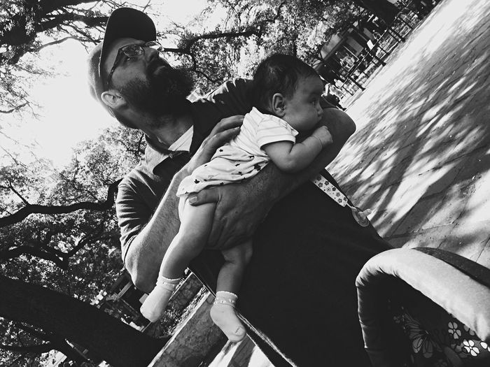 San Antonio downtown real life baby in hand EyeEmNewHere. EyeEmNewHere Rubio Samantha  Males  Boys Parent Lifestyles Togetherness Low Angle View Bonding Father Outdoors Positive Emotion