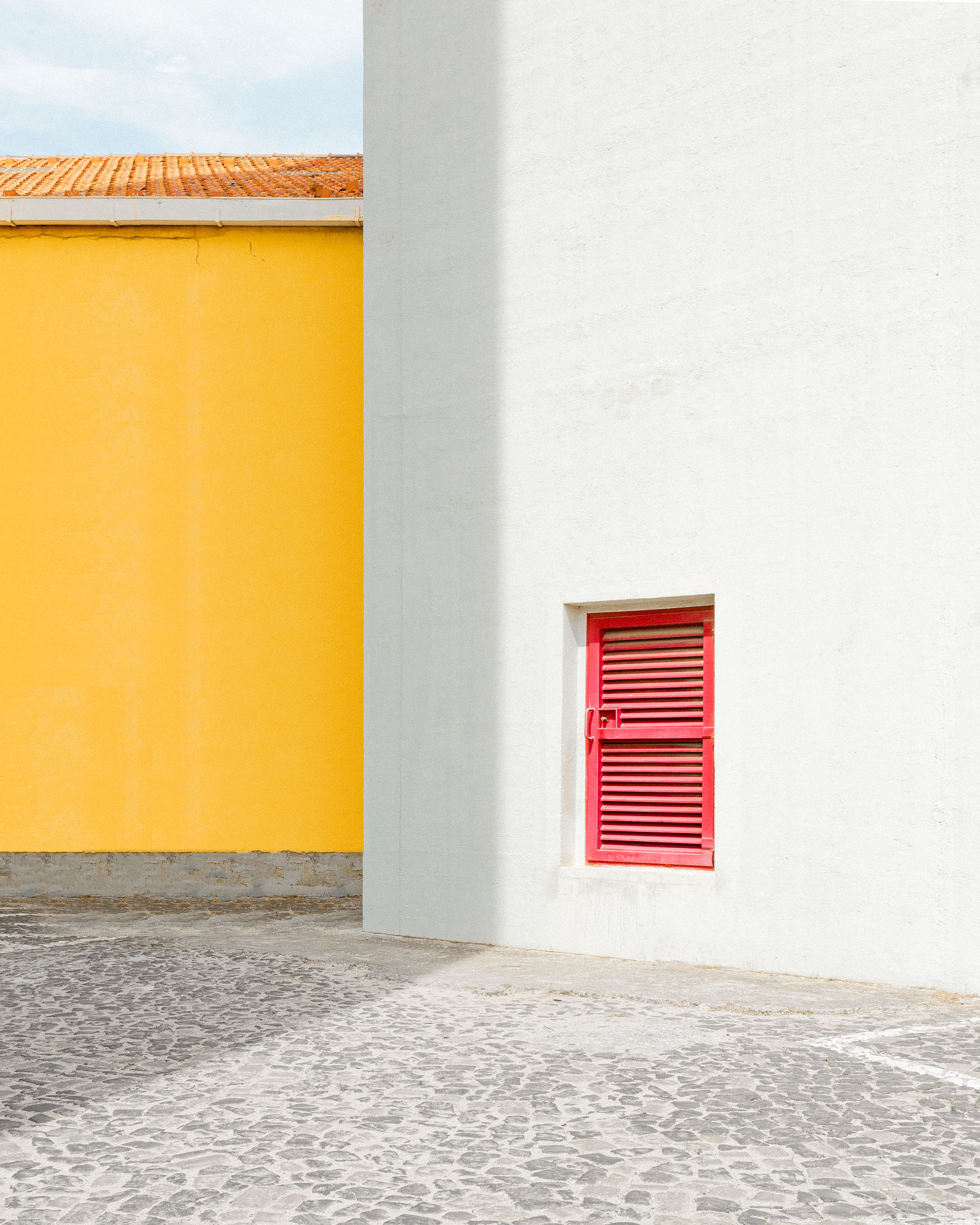 architecture, built structure, building exterior, building, door, wall - building feature, entrance, no people, house, day, wall, yellow, outdoors, closed, red, window, nature, sunlight, residential district, empty, place