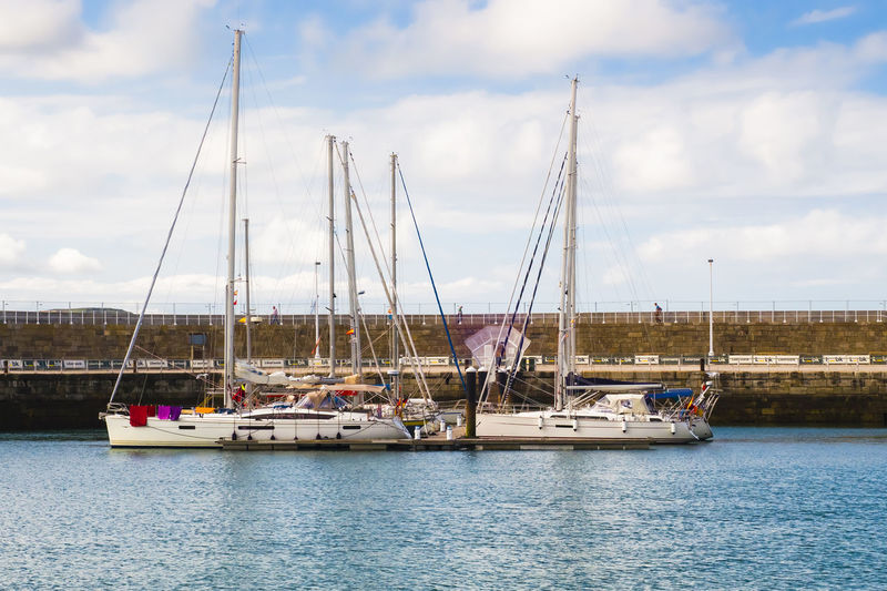 Yachts moored