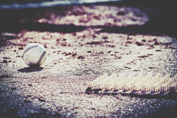A Baseball Waiting For It's Time To Shine Baseball Baseball - Sport Baseball Rubber