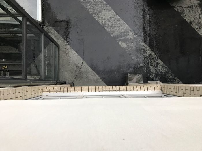 Architecture Built Structure No People Day Railing High Angle View Staircase Outdoors Wall - Building Feature Building Exterior Road White Color Shadow Winter Building Empty