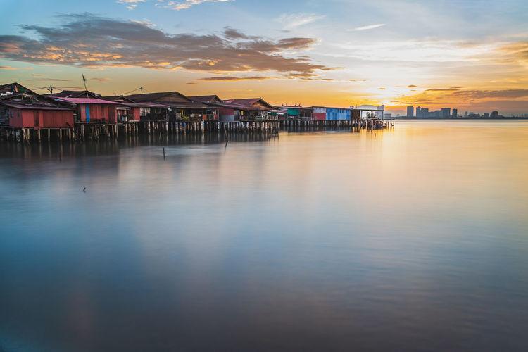 Chew jetty fisherman village in georgetown penang malaysia