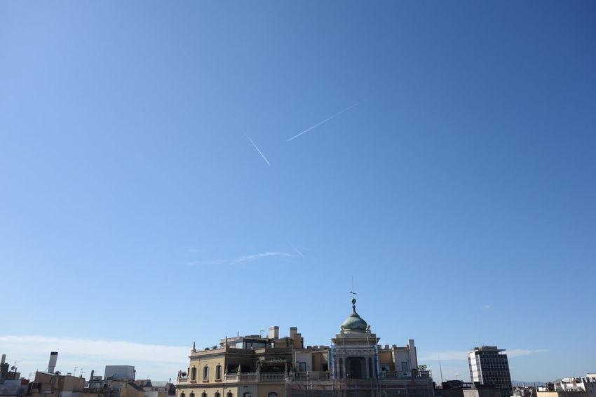 Barcelona Contrail Contrails Sky Vapor Trail Vapor Trails