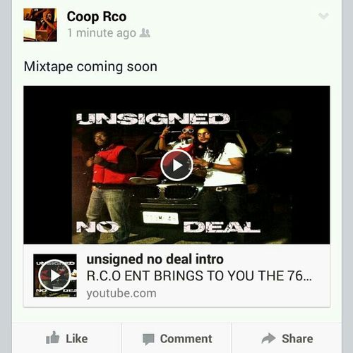 Mixtape coming soon Rco Ent 76boyz Unsigned No Deal