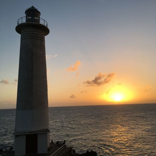 Guadaloupe Relaxing Beauty In Nature Gwada  Horizon Over Water Lighthouse No People Sea Sky Sunset Tranquility
