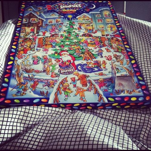 Chocolate in bed everyday until christmas. #adventskalender #obeseby2012 Adventskalender Obeseby2012