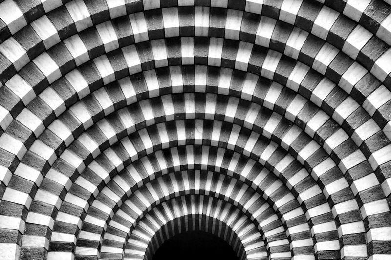 Full frame shot of patterned tunnel