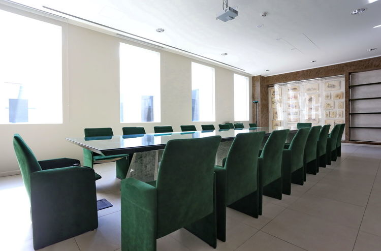 Interior of boardroom BoardRoom Business Green Modern Ceo Chair Chairman Conference Room Director Empty Indoors  Meeting Room No People Table
