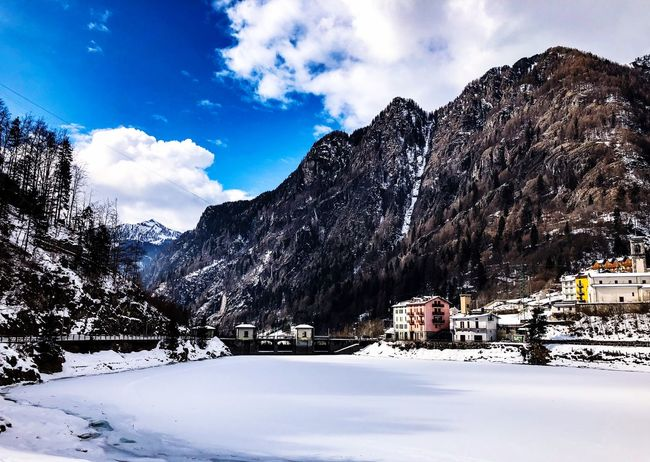 Aria fresca💙❄️ Snow Winter Cold Temperature Mountain Sky Nature Weather Beauty In Nature