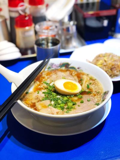 Ramen Food And Drink Food Ready-to-eat Table Healthy Eating Indoors  Bowl Serving Size Soup Freshness Egg Close-up Focus On Foreground No People Plate Meal Indulgence Gourmet Day Egg Yolk