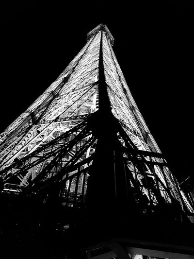 Paris By Night💖 Eiffel Tower Structure Ironwork  Sky Architecture Landscape