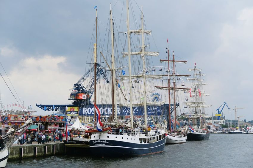 Hansesail in Warnemuende and Rostock 2016. Sailing boats from all over world meeting here for that yearly event. Boat Day HanseSail Hansesail 2016 Harbor Harbor Harbor View Mast Nautical Vessel Outdoors Rostock Rostock 2016 Rostocker Hafen Rostocker Stadthafen Sailing Sailing Boat Sailing Boats Sailing Ship Ship Sky Tourism Water Waterfront
