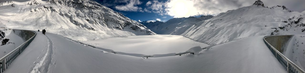 Moiry Swiss Alps Valais Valdanniviers Grimentz Zinal Mountain Snow Nature Winter