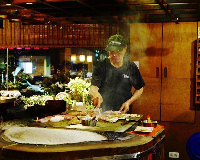 Robatayaki goodness. 🤤 In My Mouf 炉端焼き Japanese Grill Robatayaki Indoors  Food Night