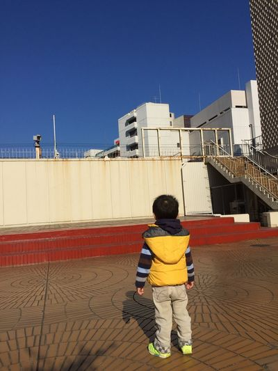 Boy Japan 日本 Kids 哀愁 Full Length Standing Sand Rear View Sky