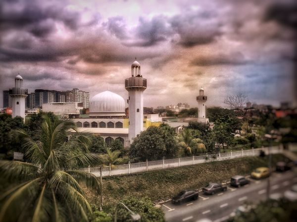 mosque Mosque Architecture Mosque Muslim Cloud - Sky Building Exterior No People Tree Nature Sky Architecture Day Outdoors