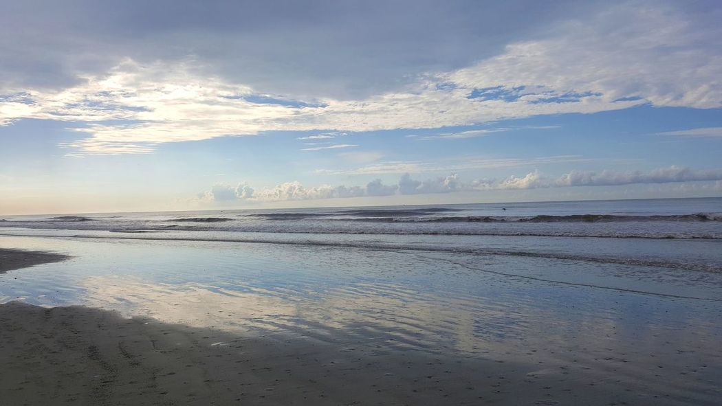 Beach Sea Water Landscape Outdoors Scenics Beauty In Nature Tranquility Cloud - Sky Sand Tranquil Scene Travel Destinations Travel Summer No People Galaxy Note 5 Isle Of Palms, SC
