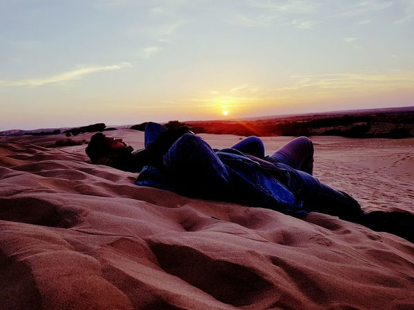 Sand Sunset Beauty In Nature Sand Dune Outdoors Laidbackchillin The Other Day