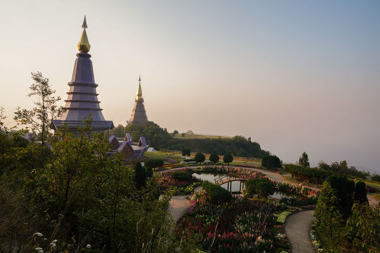 Architecture Built Structure Building Exterior Plant Sky Tree Place Of Worship Building Religion Belief History Spirituality Nature The Past Travel Destinations No People Day Outdoors Spire  Doi Inthanon Chiang Mai Chiang Mai | Thailand