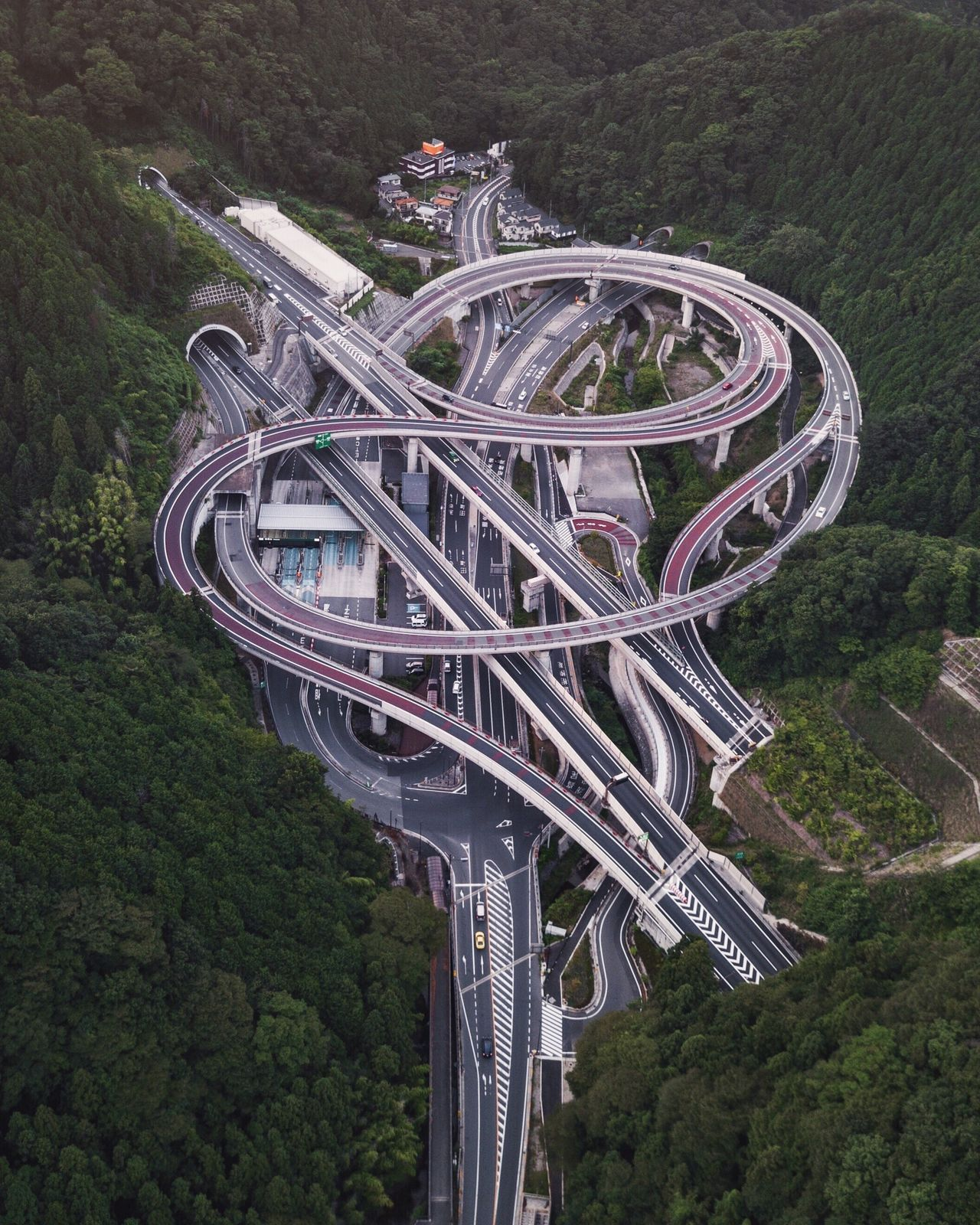Aerial view of modern roads