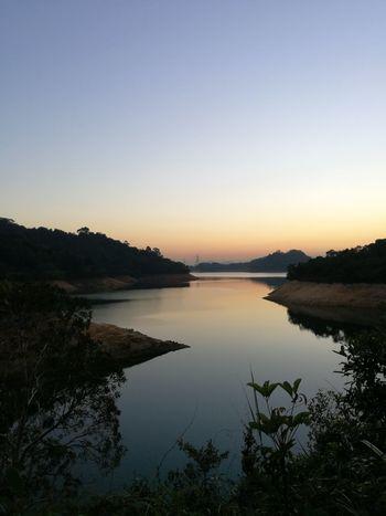 Reflection Sunset Scenics Silhouette Water Lake Sky