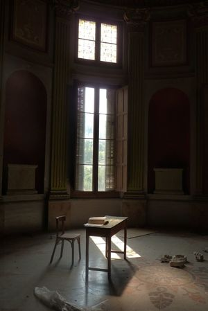 Abandoned Alella Architecture Book Chair Day Decay Desk Exploring Forgotten Governor Mansion Shadow Space Spaın Sunlight The Secret Spaces Thesecret Time Window