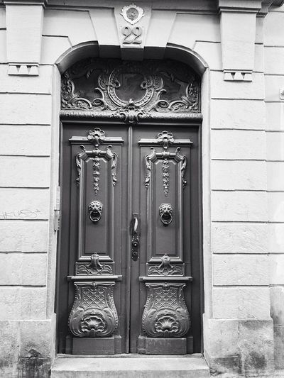 Old Door Gamla Stan Eye4photography  SWEDEN_bw