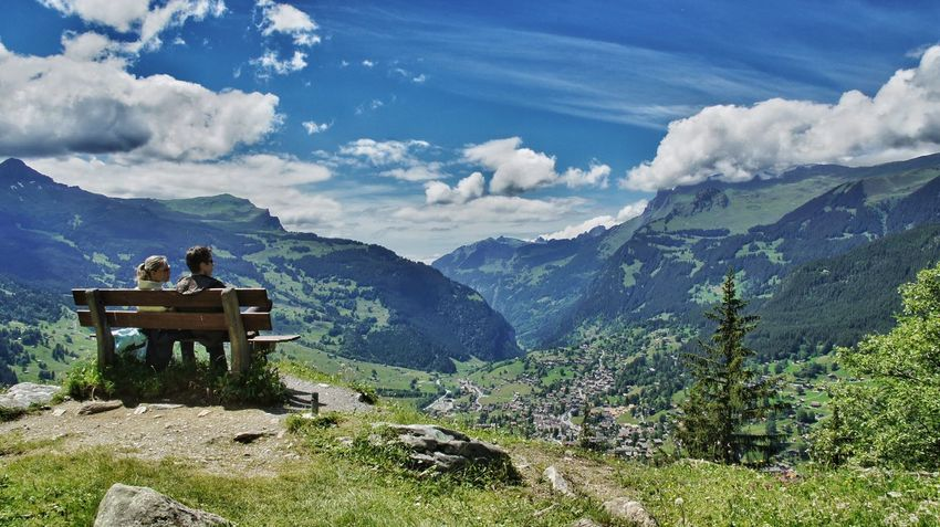 Grindelwald Swiss Summer Views Amazing View Couple Lovely Enjoying Nature Mountain View The Story Behind The Picture Sexygirl From My Point Of View