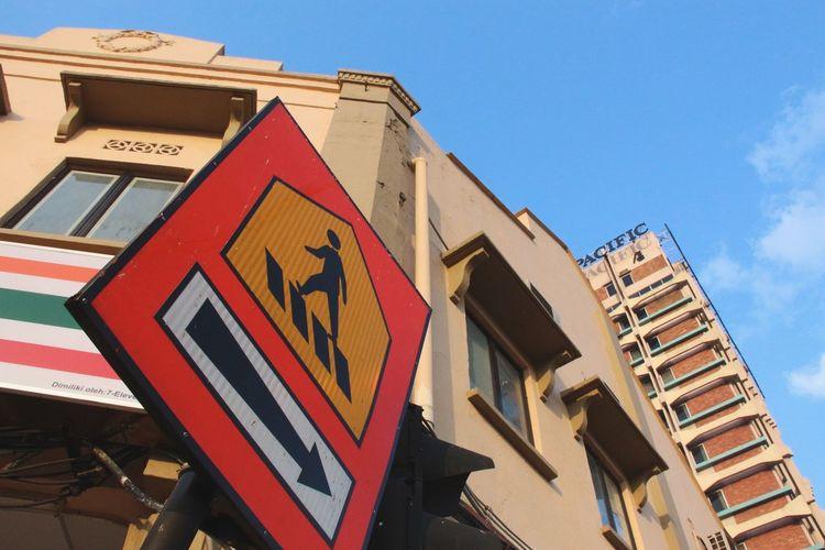 Urban Geometry Cityscape Sign Street Photography Kl Street in Kuala Lumpur Kuala Lumpur Malaysia  South East Asia