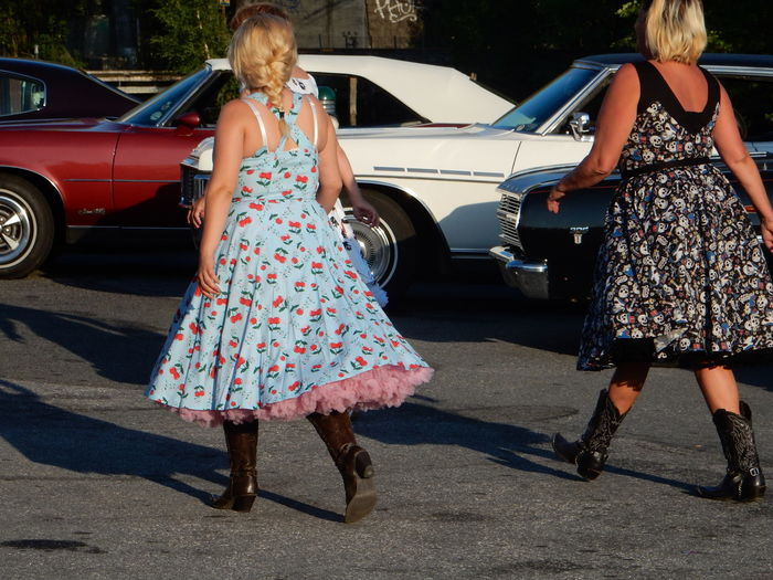 Telling Stories Differently Woman Dancers The 50's Rockabilly Dress Dresses Retro Styled Retro Style Retro Car Cars Finding New Frontiers