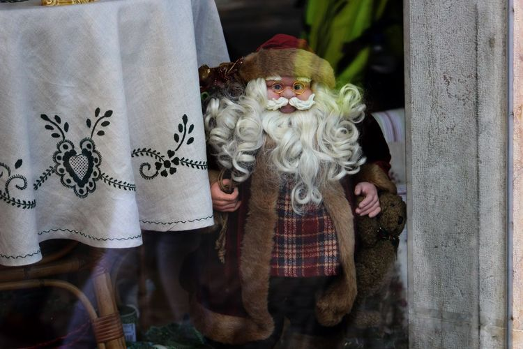 Christmas Christmas Decoration Christmas Decorations Christmas Ornament Christmas Tree Close-up Day Decoration Detail Doll Festive Festive Season From My Point Of View Human Representation No People Ornament Ornaments Outdoors Santa Santa Claus Santaclaus Shop Window Window Shopping Windows