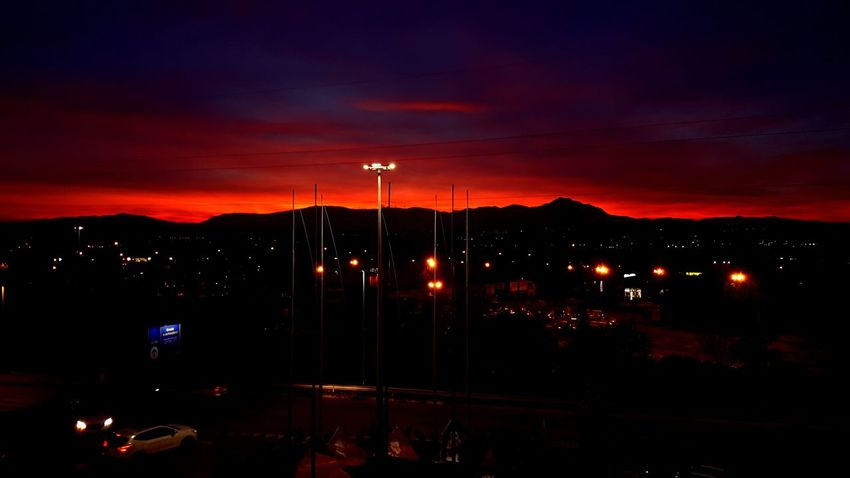 Illuminated Night No People Sky Outdoors Mountain Nature City Cityscape Love EyeEmNewHere Like Beauty In Nature Sunset Silhouettes Sunset Sunset_collection Sunset And Clouds  Sunset And Mountains Close-up Awesome IKEA Ikea Design City Be. Ready. Nature