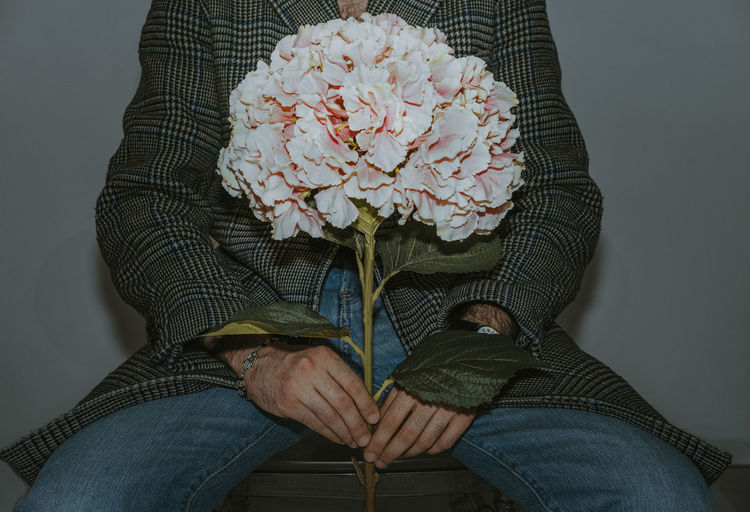 One Person Man Human Hand Flower Low Section Leaf Studio Shot Close-up Flower Head Moms & Dads