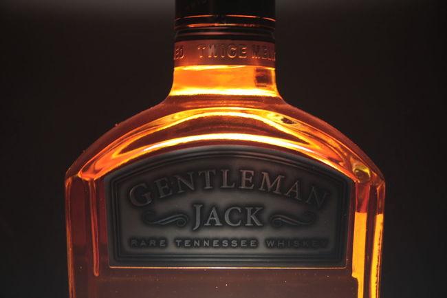 Gentleman Jack Jack Daniels Whiskey Jack Daniels♥ Alcohol Black Background Bottle Close-up Communication Drink Freshness Night No People Outdoors Text Western Script