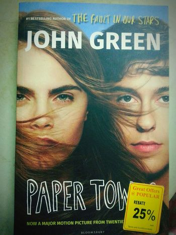 Paper Towns. I like the storyline and the author had listed something that i have common with Q. 1. He was incontestably in love with M. 2. She was absolutely unprecedented in every way. 3. She never really asked me any question… Papertowns