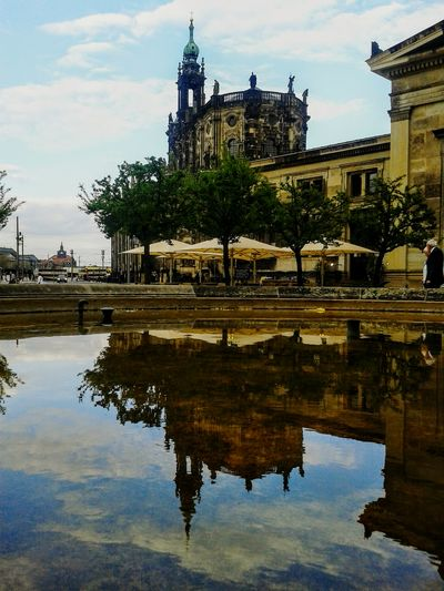 Reflection Architecture History Travel Destinations Building Exterior Dresden - Barock Statt Beton Dresden Dresden / Germany Dresdenaltstadt