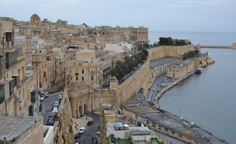 Malta Architecture Building Exterior Built Structure City Day High Angle View Nature Outdoors Sea Sky Travel Destinations Water