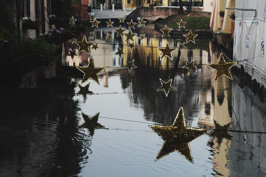 Star Water Reflection Built Structure Building Exterior Architecture Waterfront No People Puddle Outdoors Floating On Water Tree Day Nature Animal Themes Sky Stella Fotography Treviso Pomeriggio Fotografia -CM