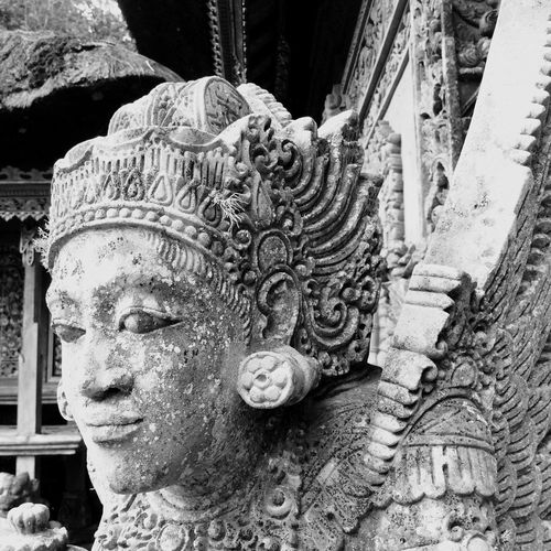 Ancient statue in temple
