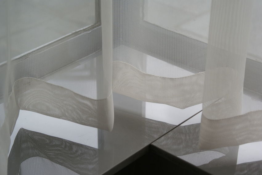 Detail Huis Sonneveld Net Curtain Pattern, Texture, Shape And Form Reflection Shadow And Light Window Windowsill