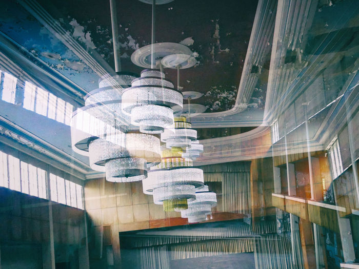 Abandoned Buildings Architectural Column Architectural Feature Architecture Art Building Built Structure Column Day Double Exposure Lamps And Lights. Low Angle View Modern No People Ornate Tourism Travel Destinations Vintage
