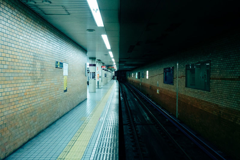 View of subway station