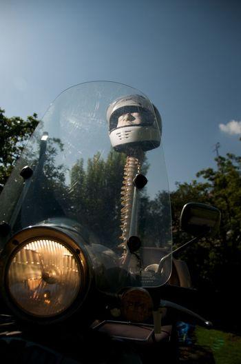 Death Death On Motor Helmet On A Bench, Bench. Helmet On Ske Helmet On Spin Moto-scooter Motorbike Helmets Motorscooters White Motorbike Hel