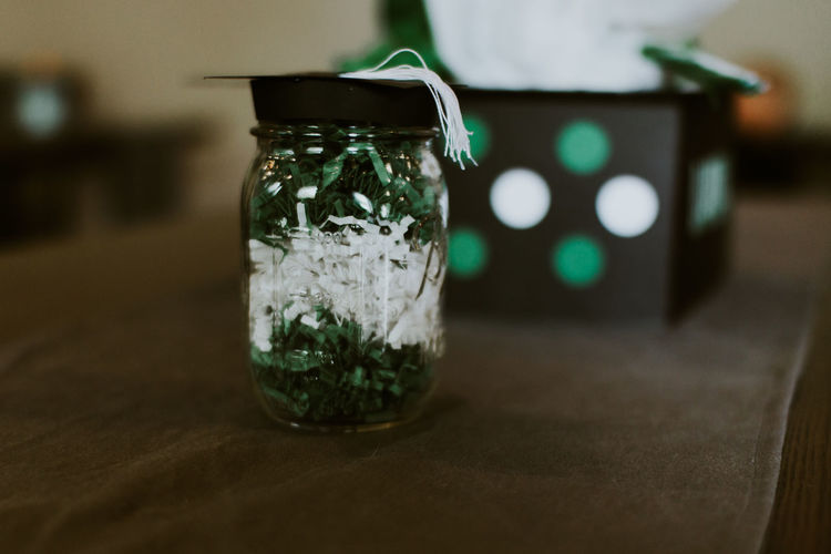 Close-Up Of Jar On Table