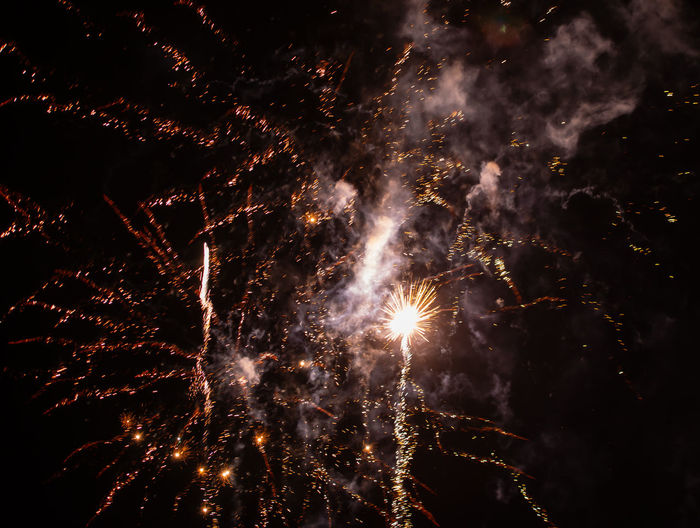 Long exposure and background of new year fireworks at the turn of the year