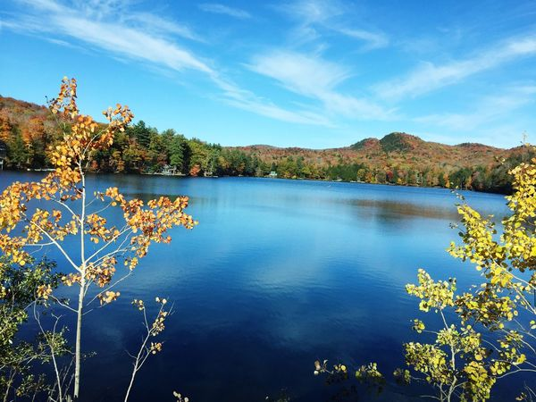 Fall in upstate NY Beauty In Nature Lake Nature Water Tranquil Scene Sky Outdoors Fall Beauty Scenics EyeEm New Here