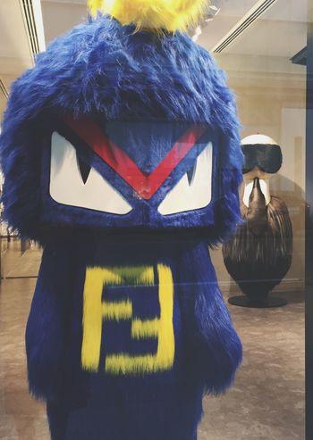 Window Fendi Furry Furry Friends Monster Blue Cute♡ Ginza Fashion