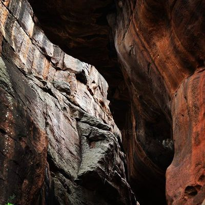 India Karnataka Badami Travel Trecking Cave